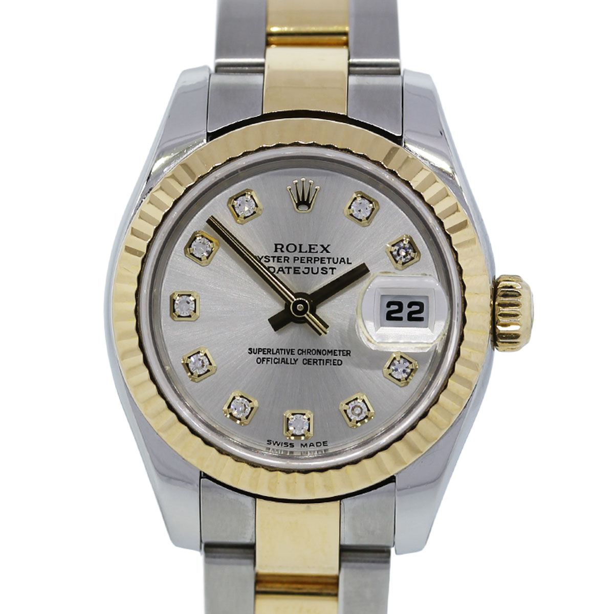 You are viewing this Rolex Datejust 179173 Ladies Two Tone Diamond Dial Watch!