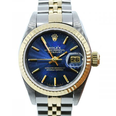 You are viewing this Rolex Datejust 69173 Blue Dial Two Tone Ladies Watch!
