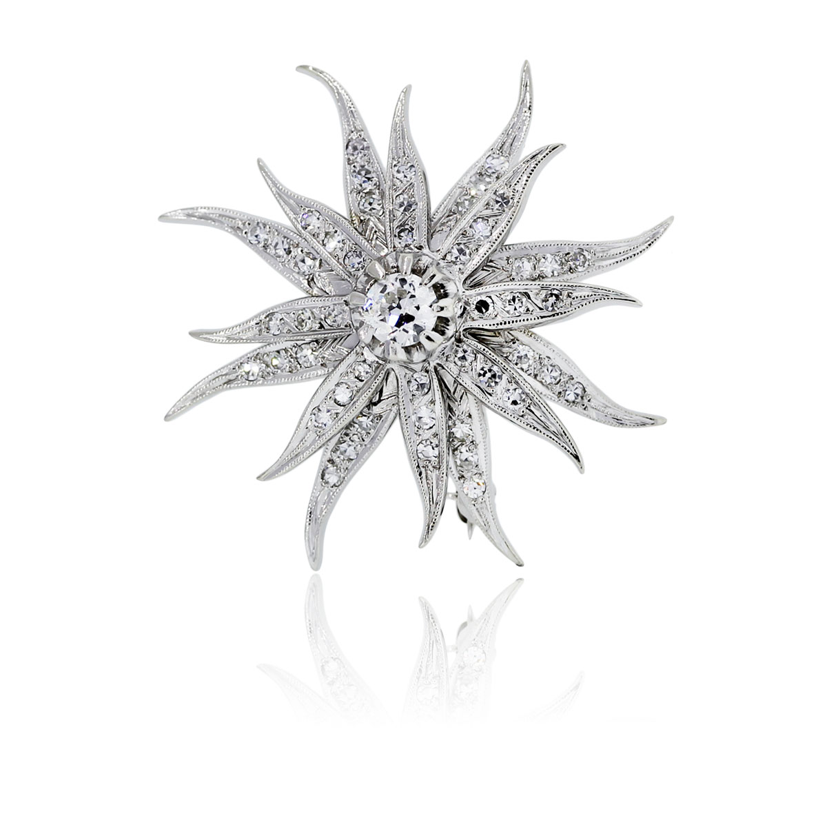 You are viewing this 14k White Gold Diamond Star Slide Pin & Pendant!