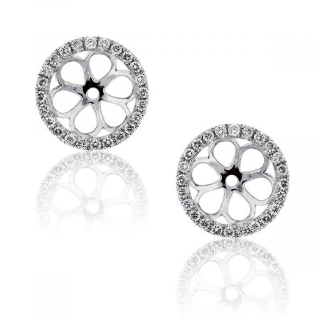 You are viewing these 18k White Gold Diamond Stud Earring Jackets!