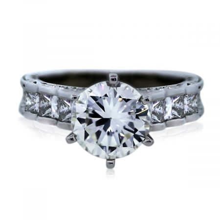 You are Viewing this Stunning Round Brilliant Diamond Engagement Ring!