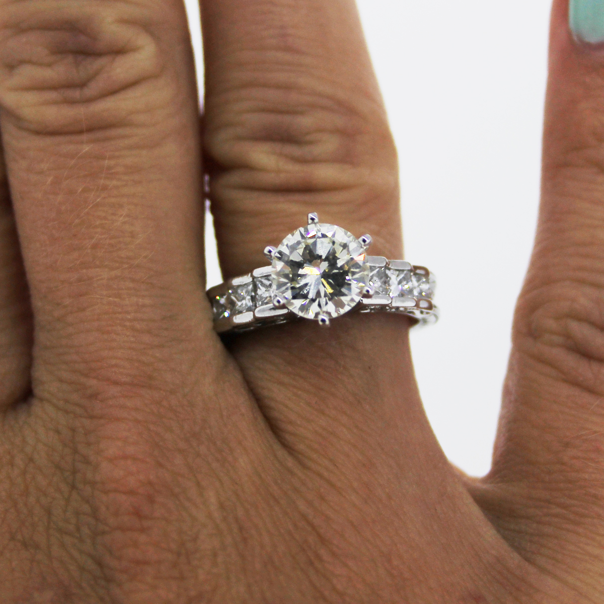 6 Prong Diamond Engagement Ring