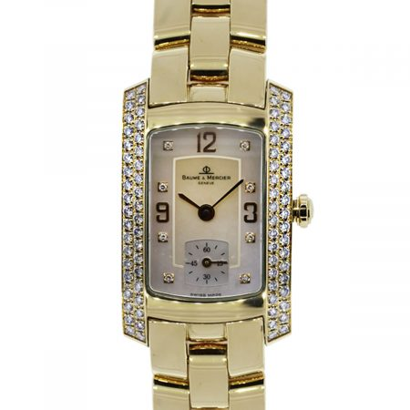 You are viewing this Baume et Mercier Hampton Milleis 18K Yellow Gold Watch!
