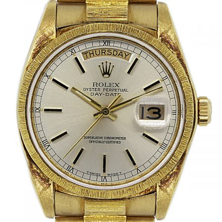 Gold Rolex with Bark Finish 18038