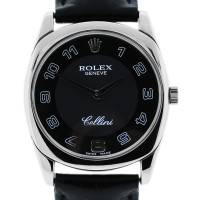 Rolex Cellini Danaos 4233 18k White Gold Mens Wristwatch on Leather