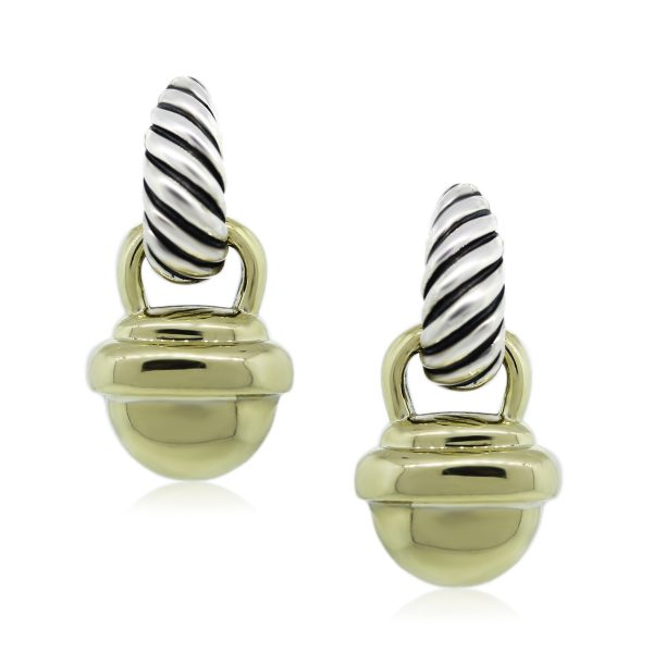 You are Viewing this David Yurman Acorn Cable Earrings!