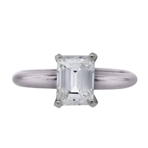 GIA certified emerald cut solitaire