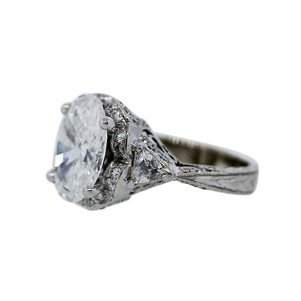 3.58ct Oval Diamond Engagement Ring