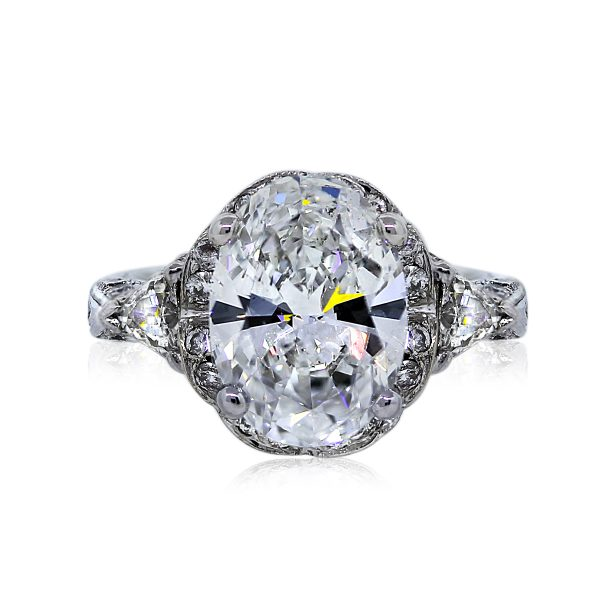 You are Viewing this Stunning 3.58ct Oval Shaped Engagement Ring!!