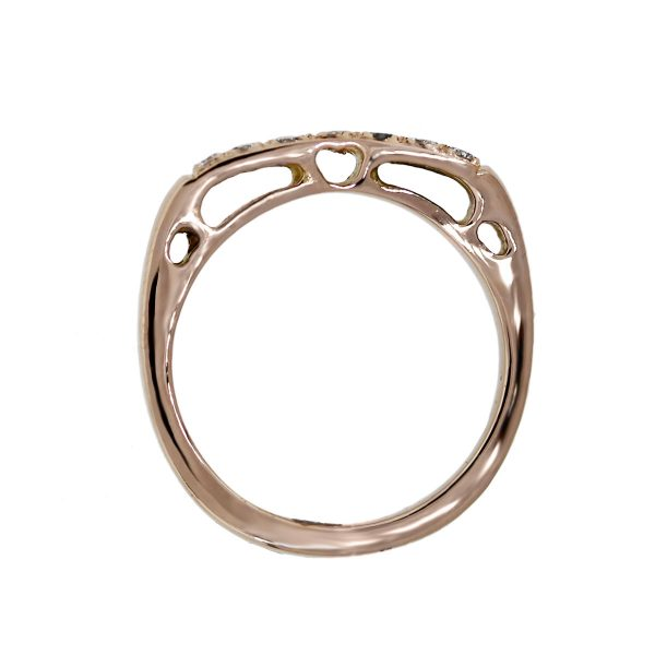 18k Rose Gold Diamonds Stackable Ring