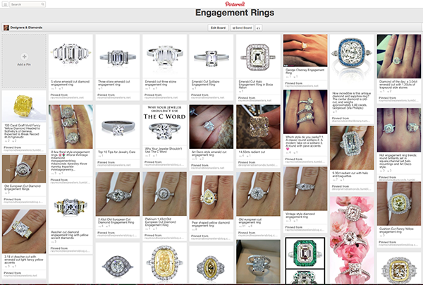 Engagement Ring Pinterest Board