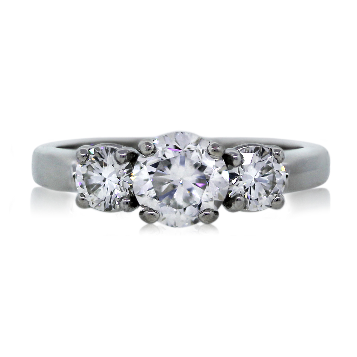 You Are Viewing This Stunning Three Stone Round Brilliant Diamond  Engagement Ring!