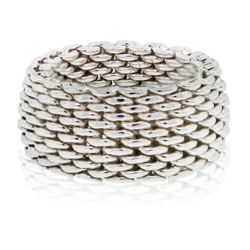 b73791eec Tiffany & Co. Sterling Silver Somerset Mesh Ring