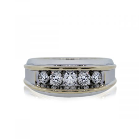 You are Viewing this Two Tone Diamond Wedding Band Ring!
