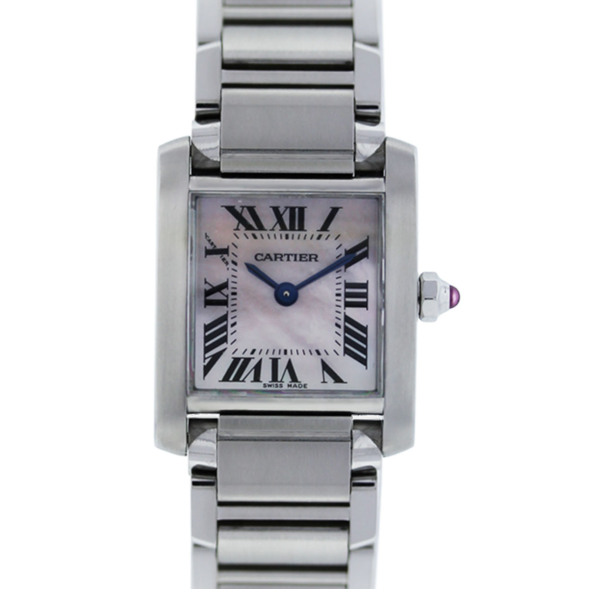 cartier tank francaise 2384 stainless steel ladies watch boca raton. Black Bedroom Furniture Sets. Home Design Ideas