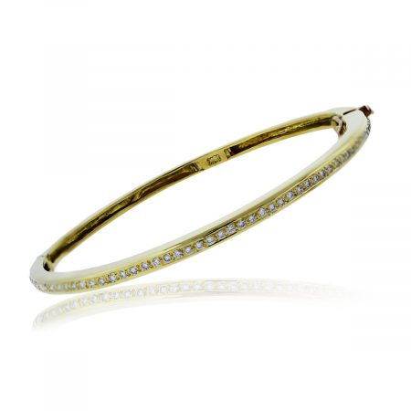 You are viewing this 18K Yellow Gold Diamond Bangle Bracelet!
