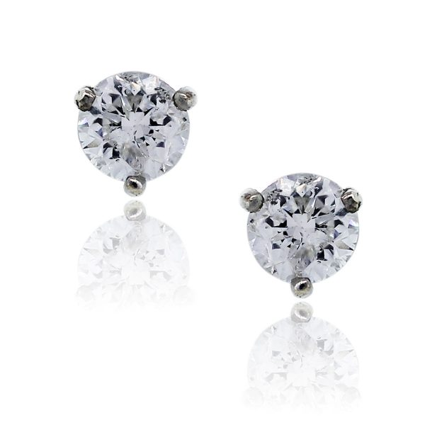 You are viewing these 14K White Gold 1.24 Carat Diamond Stud Earrings!