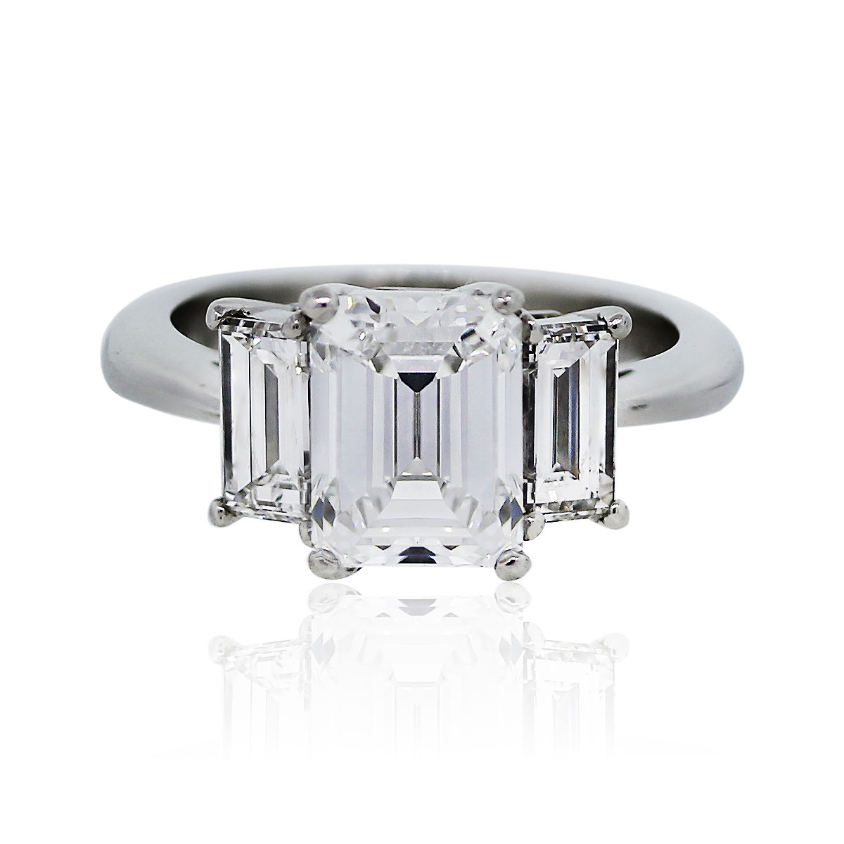 carat emerald cut diamond gia certified engagement ring. Black Bedroom Furniture Sets. Home Design Ideas