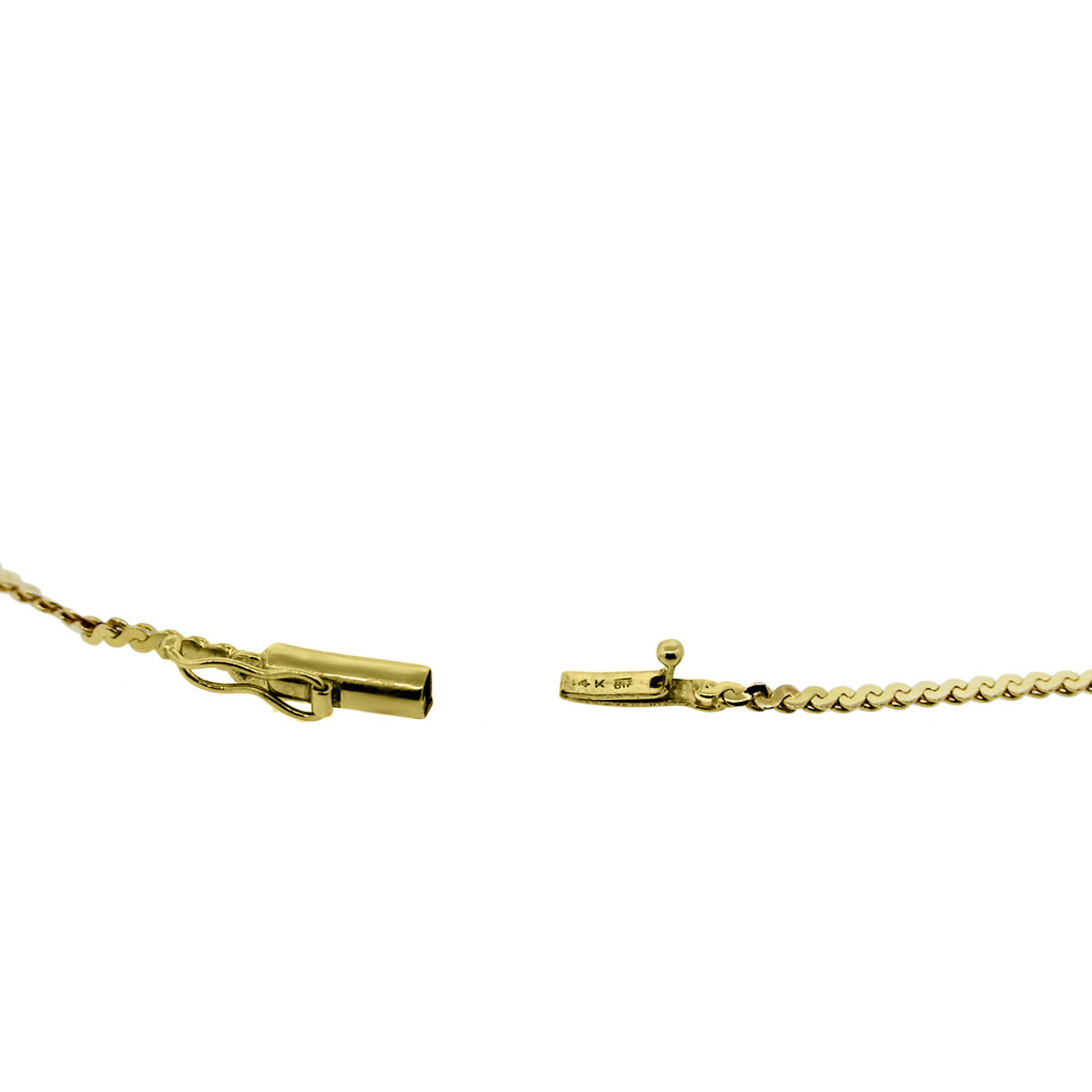 14K Yellow Gold Ladies Necklace