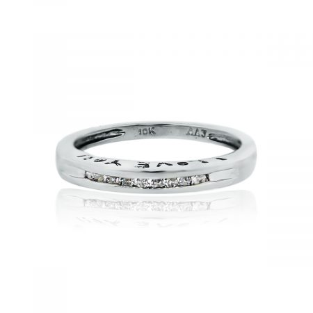 "You are viewing this White Gold Diamond ""I Love You"" Band Ring!"