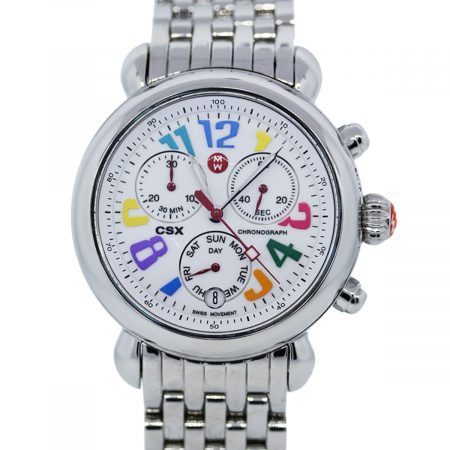 You are viewing this Michele Carousel CSX Chronograph Stainless Steel Ladies Watch!