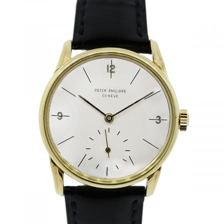 You are viewing this Patek Philippe 2494 18K Yellow Gold on Leather Watch!