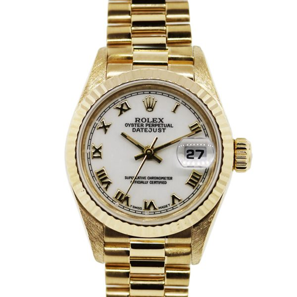 You are viewing this Ladies Rolex 69178 Datejust 18k Yellow Gold Watch!