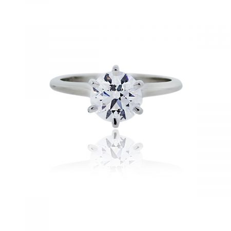 You are viewing this Platinum AGS Certified 1.28ct Round Brilliant Diamond Engagement Ring!