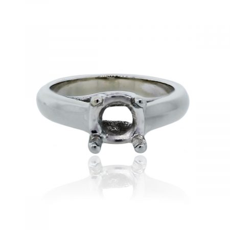 You are viewing this 14K White Gold Four Prong Diamond Engagement Ring Mounting!
