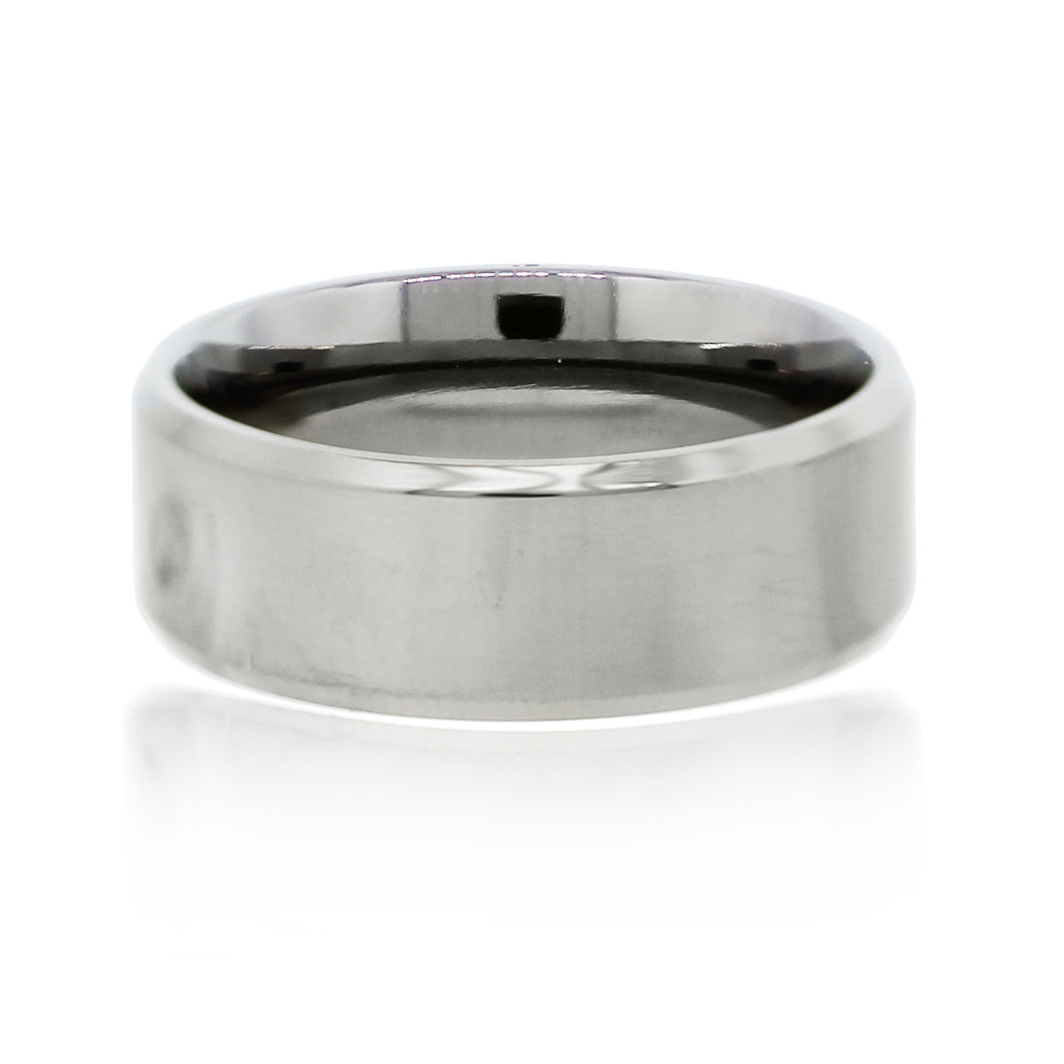 You are viewing this Titanium Polished Finish Gents Wedding Band Ring!