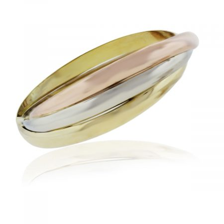 You are viewing this 18k Tri Gold Bangle Bracelet!
