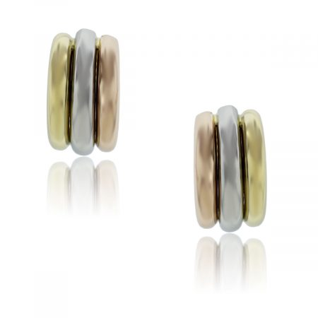 You are viewing these 18k Tri Gold Earrings!
