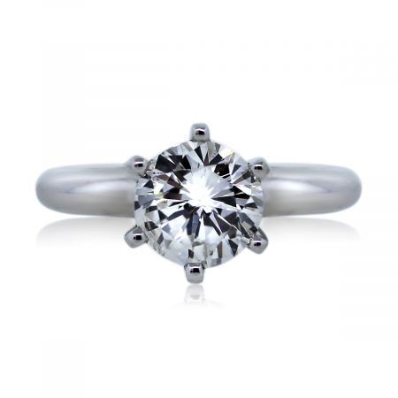 You are viewing this Round Brilliant Diamond Platinum Engagement Wedding Band Ring!