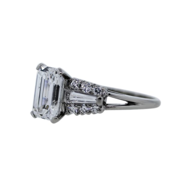 3.01ct Emerald Engagement Ring