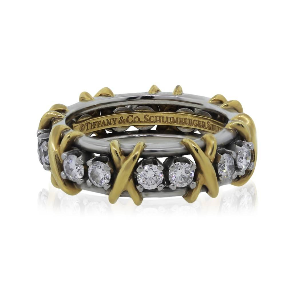Tiffany Amp Co Schlumberger 16 Stone Eternity Band Ring