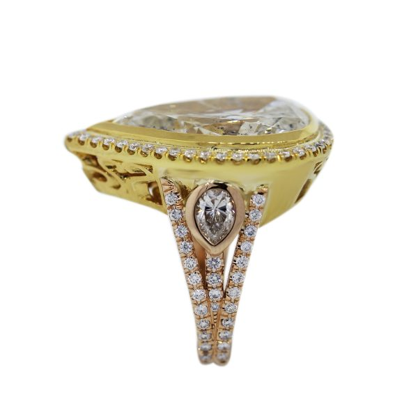 Yellow and Rose Gold Yellow Diamond Ring