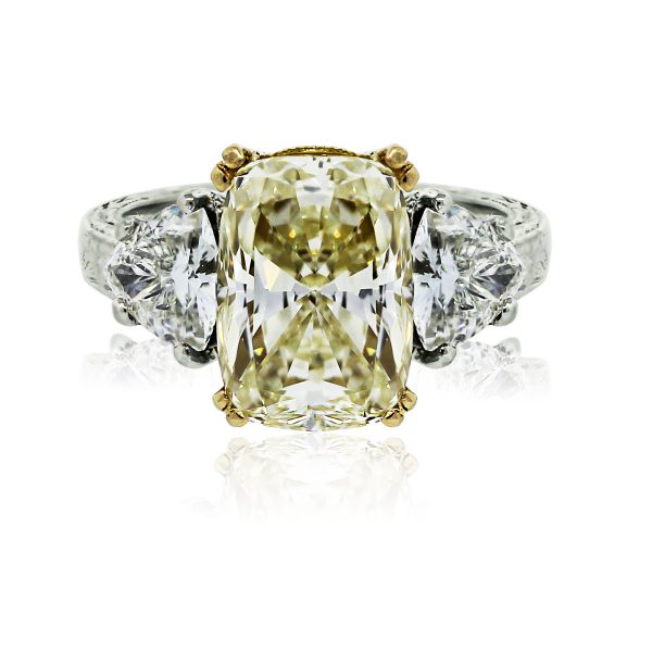 You are viewing this 18k Two Tone 3 Stone GIA Certified Wedding Ring!