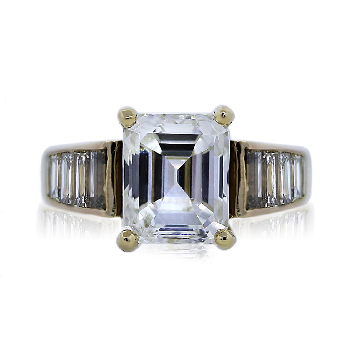 You are Viewing this 3.11ct Emerald Cut Engagement Ring