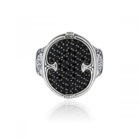 You are viewing this Konstantino Sterling Silver Black Spinel Gents Ring!