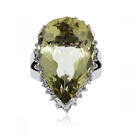 You are Viewing this Lemon Quartz Cocktail Ring