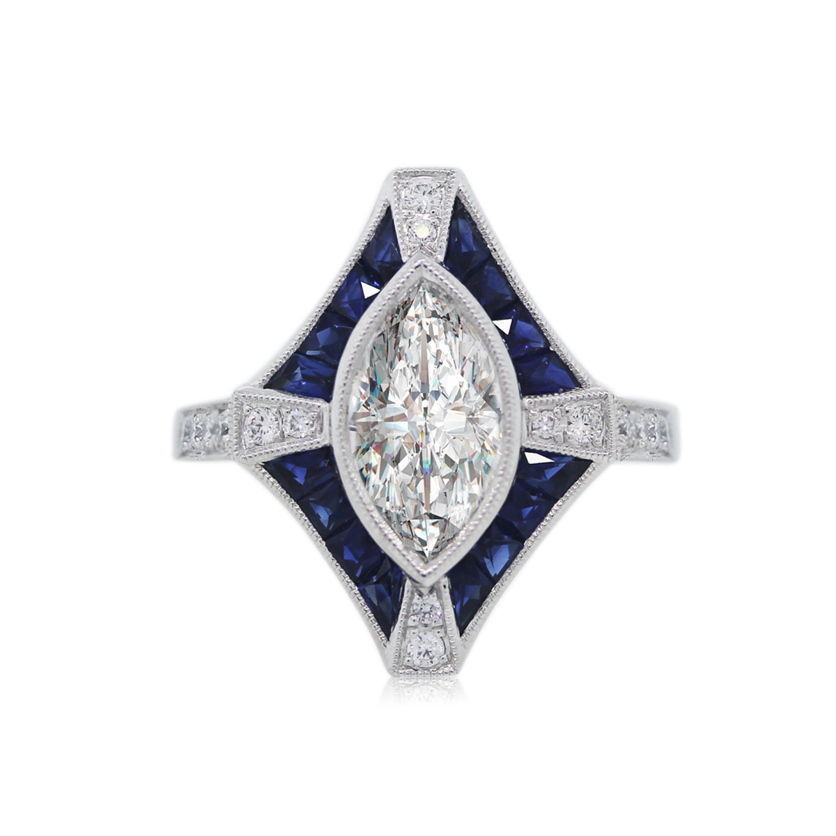 You are Viewing this Stunning 1.59ct Marquise Diamond Ring!