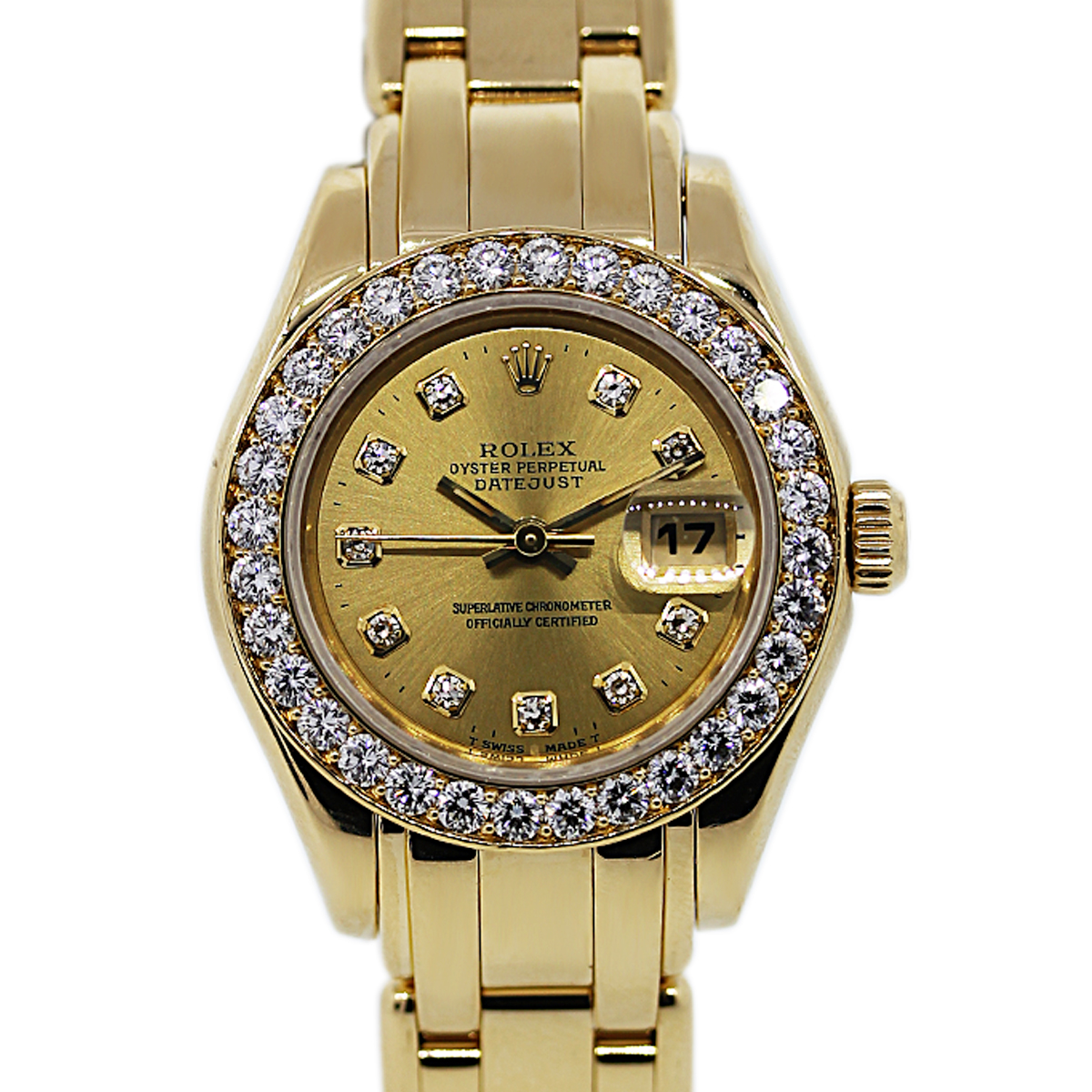 You are Viewing this Gold Rolex Pearlmaster With Diamonds