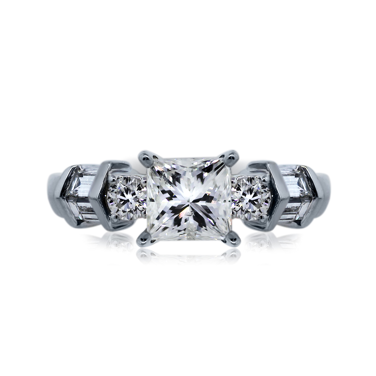 You are Viewing this Stunning Natalie K Princess Cut Engagement Ring