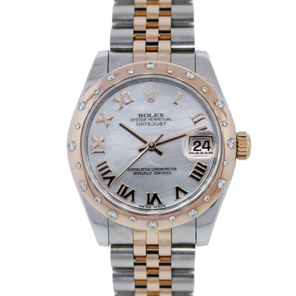 You are viewing this Rolex Datejust 178341 Rose Gold Stainless Steel Ladies Watch!