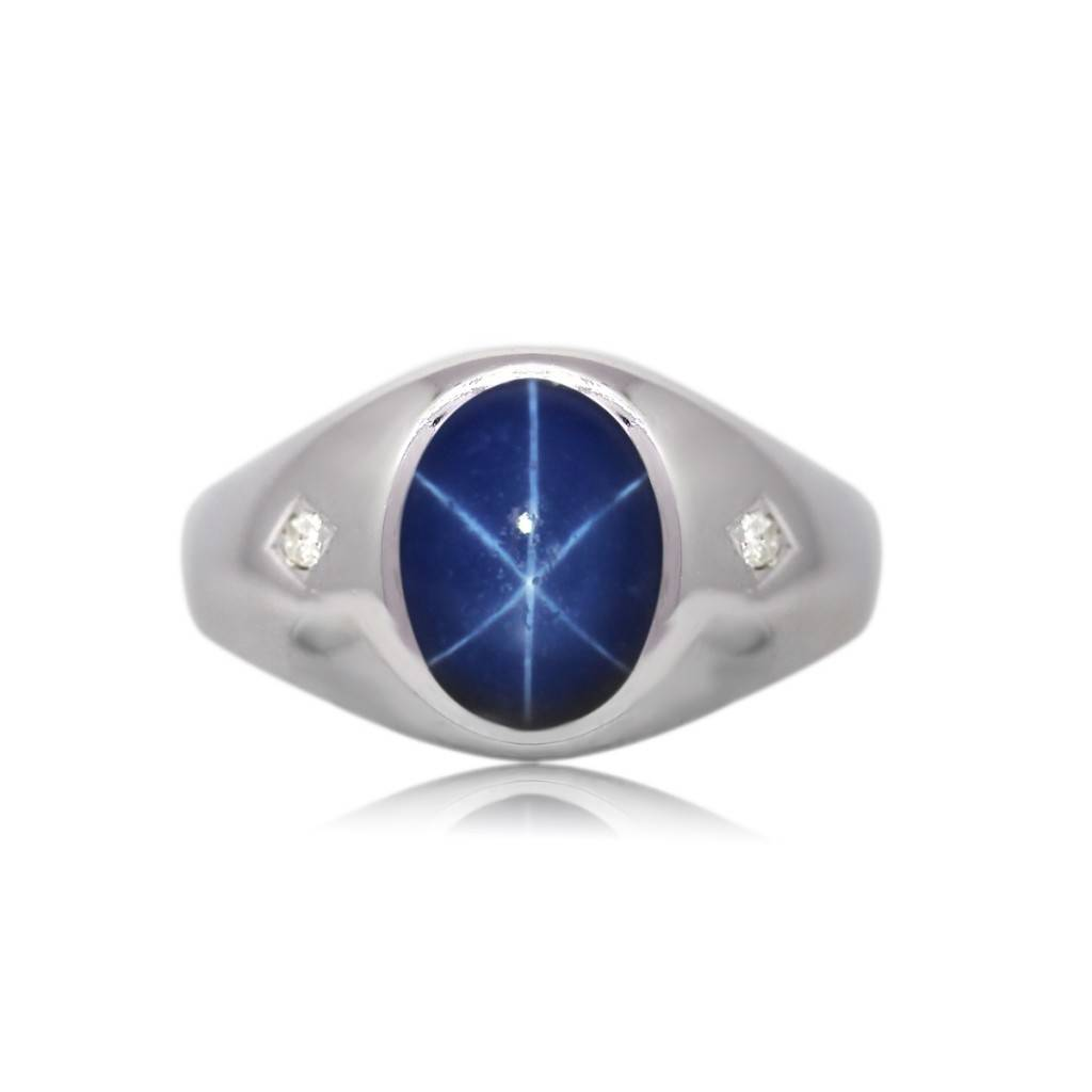 Mens Linde Star Sapphire Ring