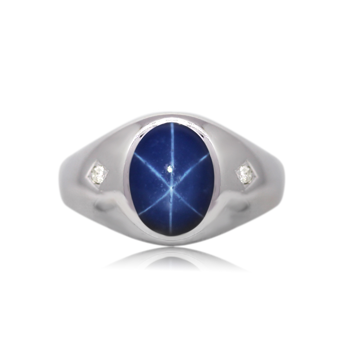 You are Viewing this Diamond Star Sapphire Ring