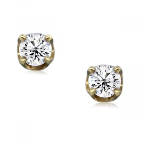 You are Viewing These Round Brilliant Diamond Stud Earrings!