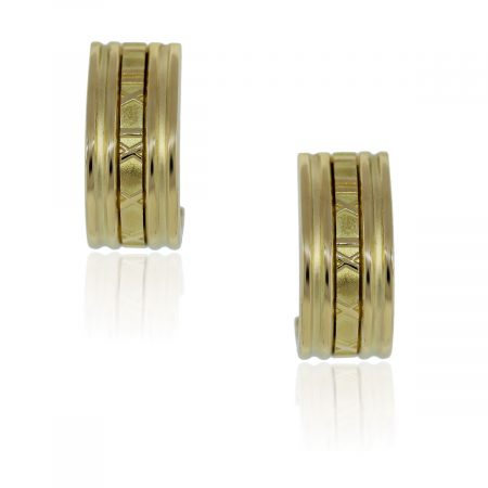 Tiffany & Co. Elsa Atlas 18k Yellow Gold Earrings!