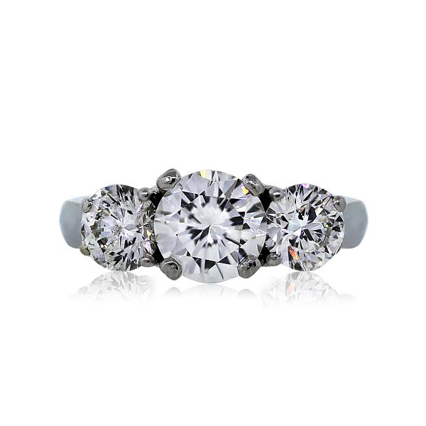 You are Viewing this Gorgeous Three Stone Diamond Engagement Ring