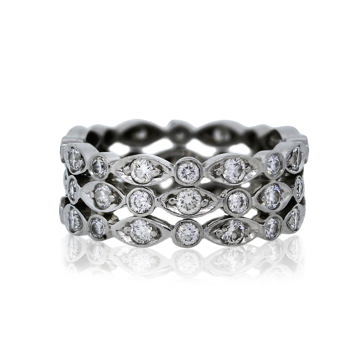 Tiffany Amp Co Platinum Diamond Swing Ring Eternity Band